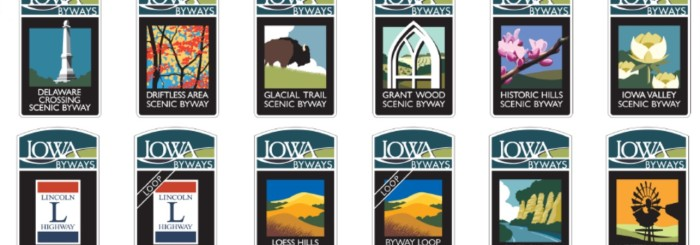 Iowa Byways Wayfinding Signage Plan – Shive-Hattery & David Dahlquist